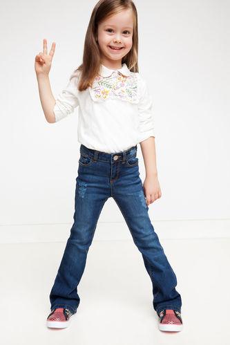 Kız Çocuk İspanyol Paça Pantolon DeFacto