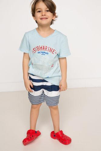 Çizgili Erkek Çocuk Yüzme Şortu DeFacto