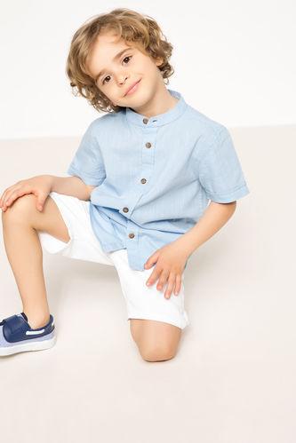 Erkek Çocuk Kısa Kollu Gömlek DeFacto