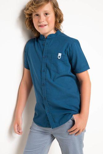 Genç Erkek Kısa Kollu Tek Cep Gömlek DeFacto