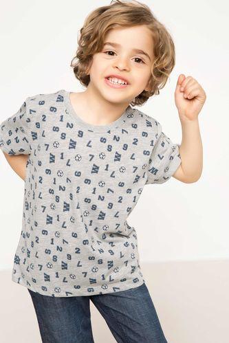 Baskılı Erkek Çocuk T-shirt DeFacto