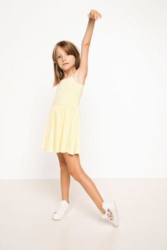 Askılı Kız Çocuk Elbise DeFacto