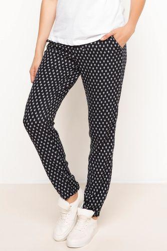 Yüksek Bel Desenli Pantolon DeFacto