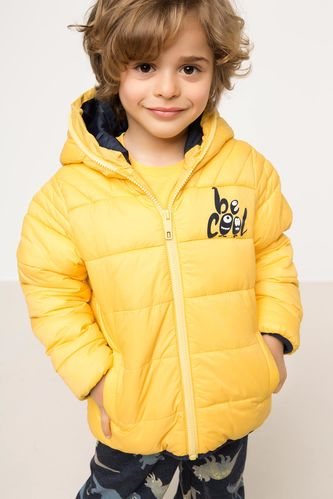 Kapşonlu Erkek Çocuk Polarlı Mont DeFacto