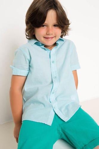Basic Kısa Kollu Erkek Çocuk Gömlek DeFacto