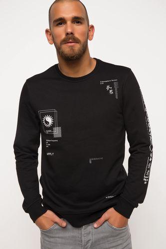 Baskılı Sweatshirt DeFacto
