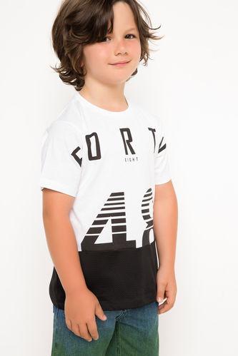 Baskılı Genç Erkek Uzun T-shirt DeFacto
