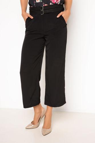 Yüksek Bel Düz Kesim Pantolon DeFacto